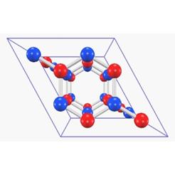 h-BNの結晶構造図 [Lei Liu 2003]遺伝的アルゴリズムによる結晶構造予測